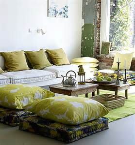 Floor Cushion Living Room Feng Shui Interior Design Floor Pillows The Tao Of