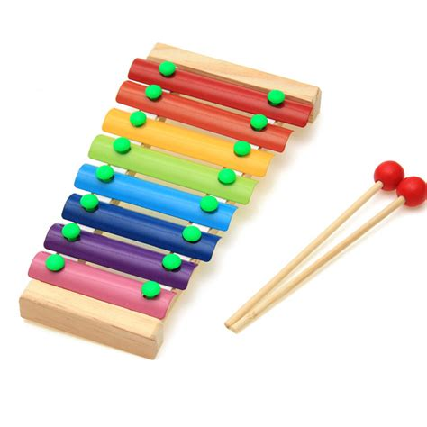 Promo Xylophone retail child kid baby 8 note wooden xylophone musical toys xylophone wisdom juguetes