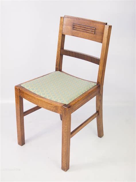 Oak Dining Chairs Antique Set 4 Deco Oak Dining Chairs Antiques Atlas