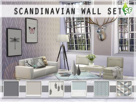 Scandinavian Room by Simfabulous Scandinavian Wall Set