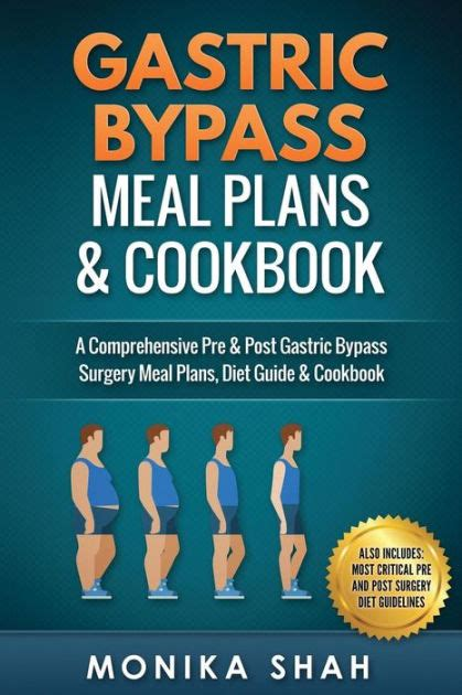 gastric bypass meal plans  cookbook  monika shah paperback barnes noble