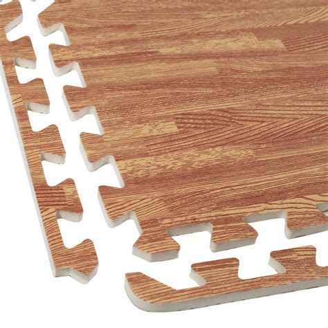Interlocking Wood Floor by Interlocking Foam Wood Grain Puzzle Mat Floor Tiles 64