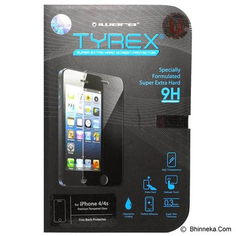 Tyrex Tempered Glass Screen Protector For Apple Iphone 6 jual tyrex apple iphone 4 4s tempered glass screen
