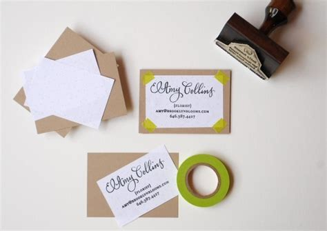 creative idea 5 awesome diy rubber sted business card