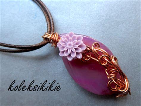 membuat gelang wire membuat liontin wire bunga pioni koleksikikie