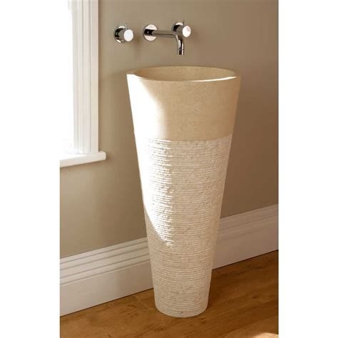 free standing basins bathroom finwood designs floor standing cone bathroom basin crema marfil uk bathrooms