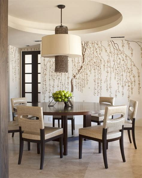 wallpaper in dining room furniture plate wallpaper dining decor interior design
