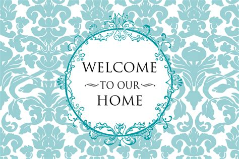welcome to our home design frame included felt