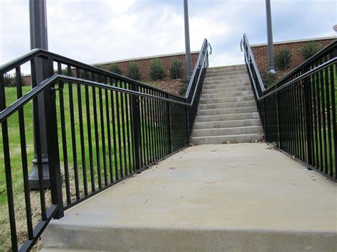 Aluminum Handrails commercial rails and stair rails fences unlimited fences unlimited