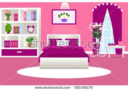 cartoon girls bedroom girl room stock images royalty free images vectors