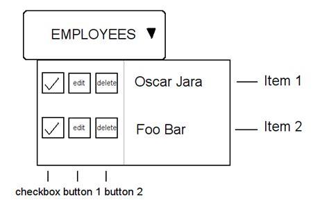 layout menu extjs javascript add buttons in extjs menu item stack overflow
