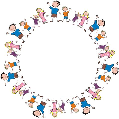 cornici colorate da stare gratis clipart stick figure family circle