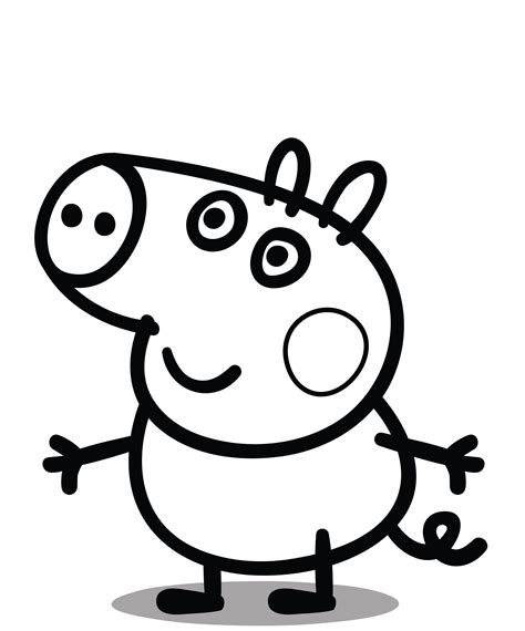 george pig coloring page george pig colouring pages for kids