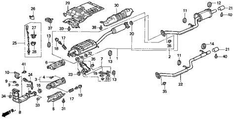 honda odyssey exhaust system diagram honda store 1996 odyssey exhaust pipe parts