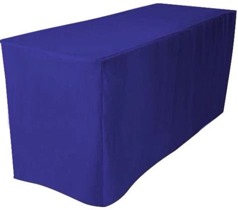 Trade Show Table Cover by 6 Ft Fitted Polyester Table Cover Trade Show Booth Dj