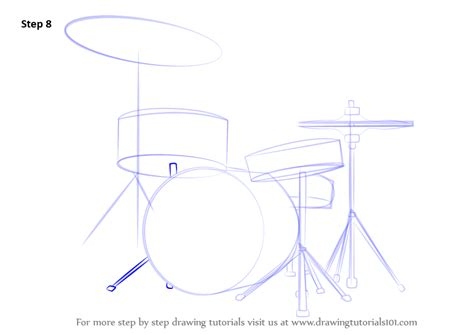 drum tutorial easy step by step how to draw drums drawingtutorials101 com