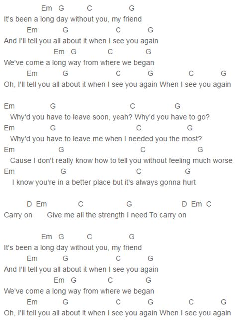 charlie puth chord how long see you again solo version chords charlie puth