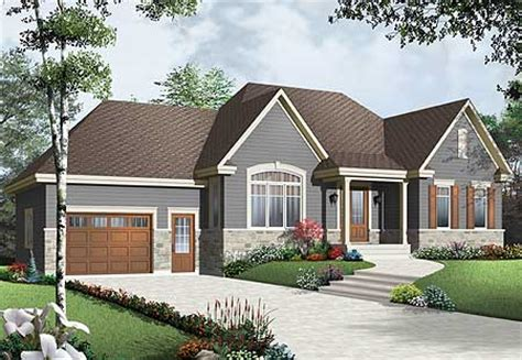 Attached Garage Ideas by Cozy Bungalow With Attached Garage 21947dr