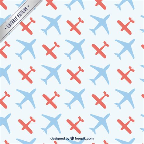 pattern plane video pattern with airplanes vector premium download