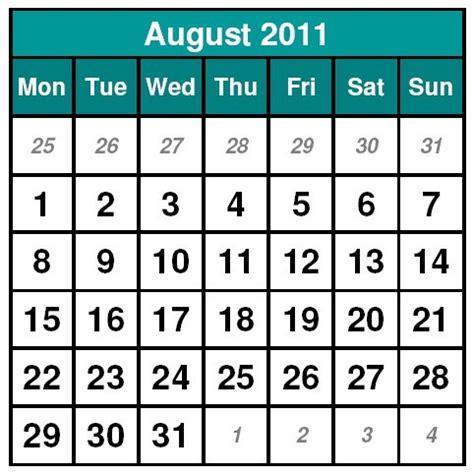 August 2011 Calendar Wallpapers Free August 2011 Calendar