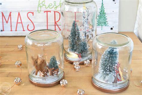 Reuse Glass Jars to Make Christmas Snow Globes   Refresh