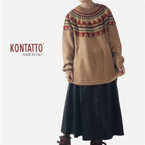 Argyle Wool Blend Knit Top gise rakuten global market kontatto alpaca wool blend