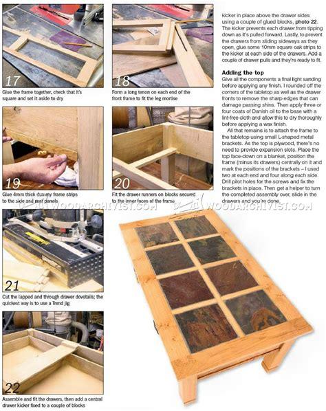 slate wood coffee table slate coffee table plans woodarchivist