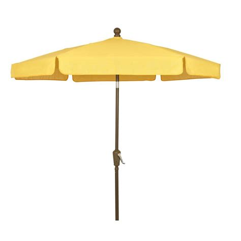 5 Ft Patio Umbrella Fiberbuilt Umbrellas 7 5 Ft Patio Umbrella In Yellow 7gcrcb T Yl The Home Depot