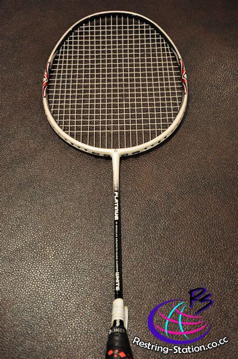 Raket Ashaway Power Platinum badminton restrung comments restring station ipoh