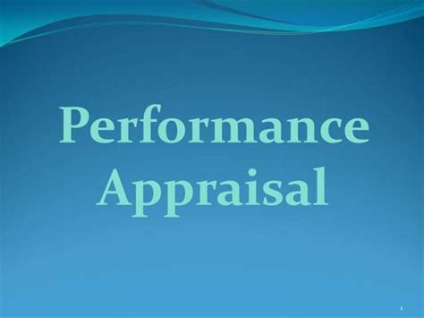 Performance Appraisal Authorstream Performance Appraisal Ppt Templates Free