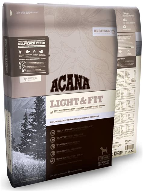 acana light fit dry dog acana dog food available online at dog solutions