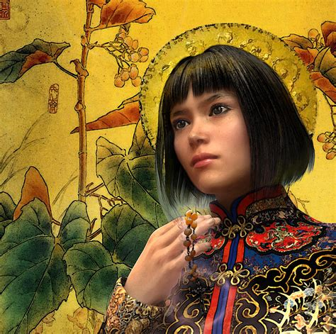 who is st agatha zhao of china painting by suzanne silvir