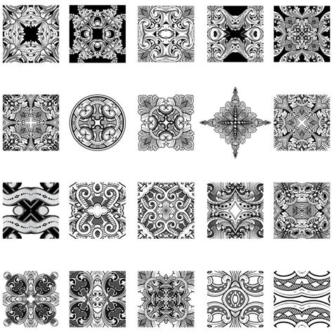 Engraving Templates engraved patterns 03 thevectorlab