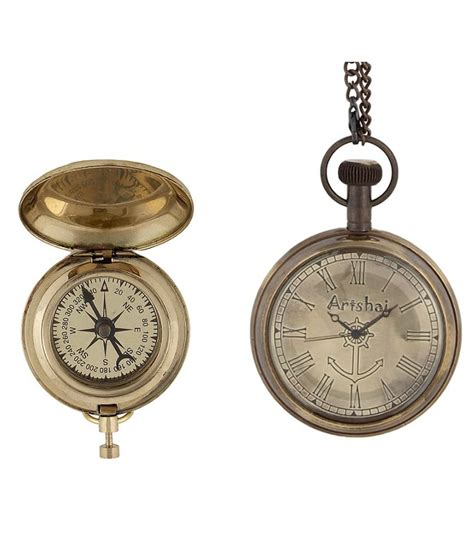 Best Material Color Combination by Artshai Combo Of Decorative Magnetic Compass And Antique