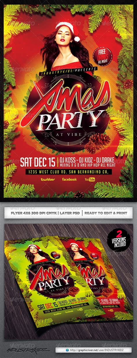 dafont unfolding tragedy christmas party psd flyer by industrykidz graphicriver