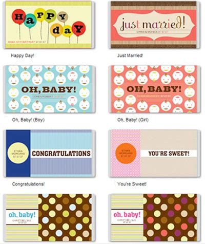 Free Printable Custom Candy Bar Covers Wrapper Labels Templates