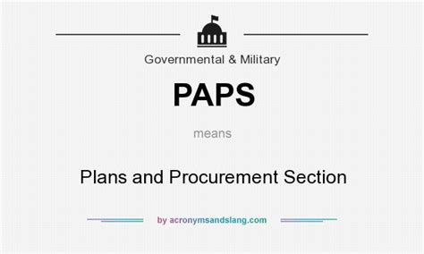 what does section 3 mean paps plans and procurement section in government
