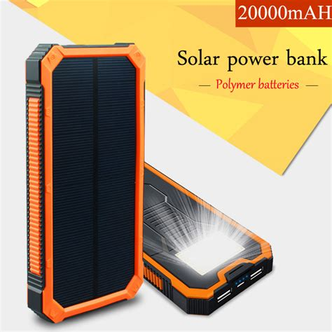Solar Powerbank 20000 Mah Power Bank 20000mah Panel Surya Dual Usb 20000mah portable waterproof solar power bank vinsic dual usb powerbank charger for cell phone
