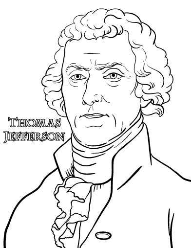 printable thomas jefferson coloring page free pdf