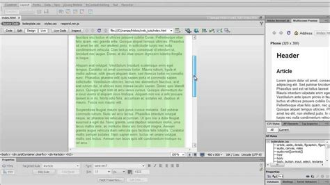 dreamweaver tutorial responsive design responsive web design with dreamweaver youtube
