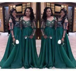 nigeria dark green bridesmaid dresses for wedding 2017