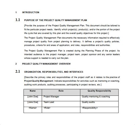 project management policy template quality management plan template business letter template