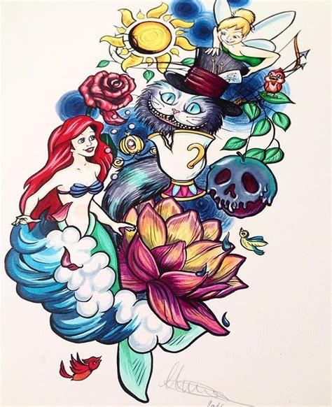 Half Of Lower Is Beast By Hikaru Ichidou neo traditional walt disney themed mermaid pan tangled in