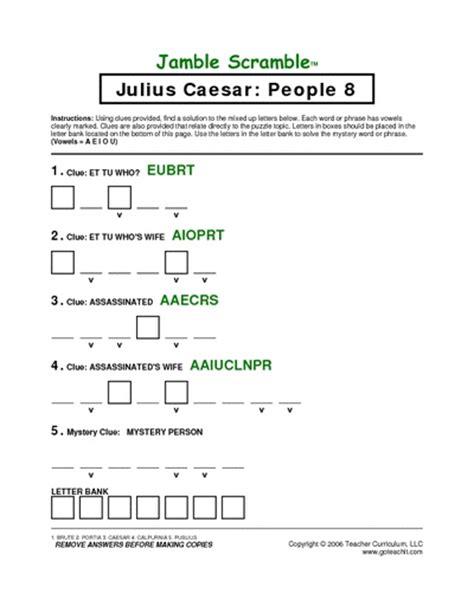 julius caesar worksheets julius caesar educational learning julius caesar