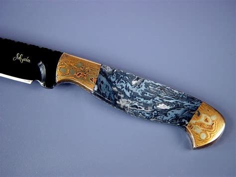 Handmade Knife Handles - gemstone knife handles by fisher