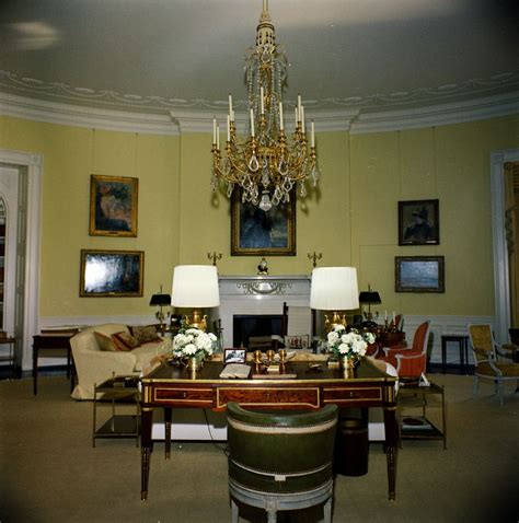 yellow and white houses white house rooms yellow oval john f kennedy