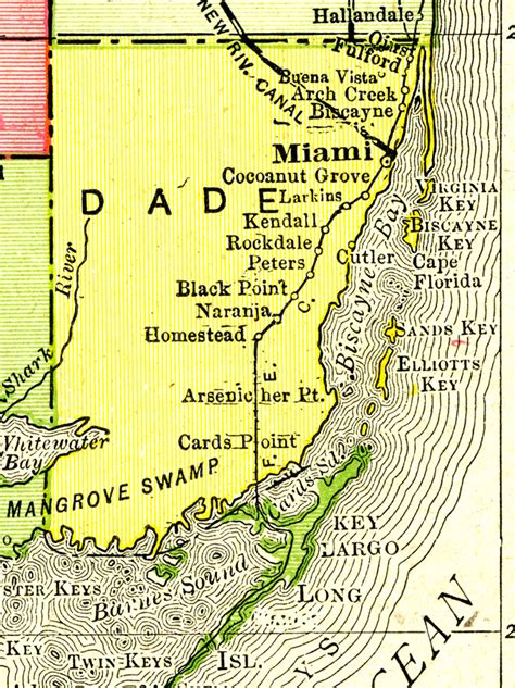 Dade County Florida Records Miami Dade County Fl Map Images