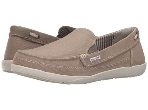 crocs loafers crocs walu canvas loafer