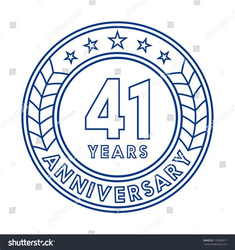 anniversary logo template 41 years anniversary logo template stock vector 725288572