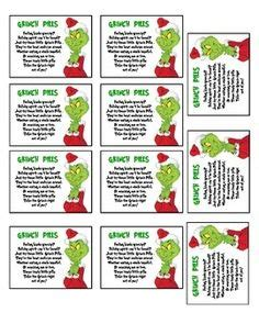 free printable grinch gift tags christmas party invitations grinch party by